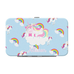 Rainbows and Unicorns Genuine Leather Small Framed Wallet w/ Name or Text