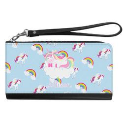 Rainbows and Unicorns Genuine Leather Smartphone Wrist Wallet w/ Name or Text