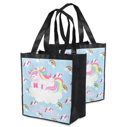 Rainbows and Unicorns Grocery Bag w/ Name or Text