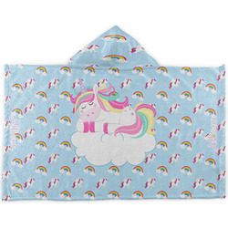 Rainbows and Unicorns Kids Hooded Towel (Personalized)