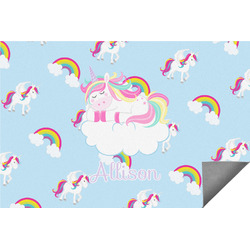 Rainbows and Unicorns Indoor / Outdoor Rug (Personalized)