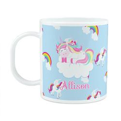 Rainbows and Unicorns Plastic Kids Mug (Personalized)