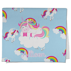 Rainbows and Unicorns Kitchen Towel - Full Print w/ Name or Text