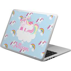 Rainbows and Unicorns Laptop Skin - Custom Sized w/ Name or Text