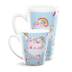 Rainbows and Unicorns Latte Mug (Personalized)
