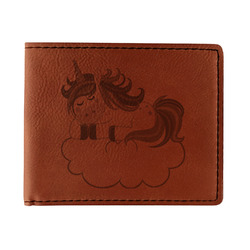 Rainbows and Unicorns Leatherette Bifold Wallet (Personalized)