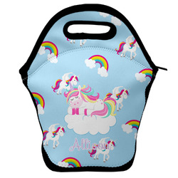 Rainbows and Unicorns Lunch Bag w/ Name or Text