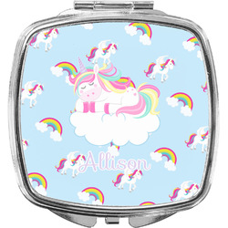 Rainbows and Unicorns Compact Makeup Mirror w/ Name or Text