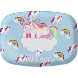 Rainbows and Unicorns Melamine Platter w/ Name or Text
