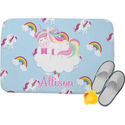 Rainbows and Unicorns Memory Foam Bath Mat (Personalized)