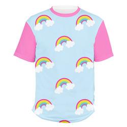 Rainbows and Unicorns Men's Crew T-Shirt (Personalized)