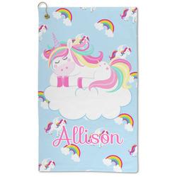 Rainbows and Unicorns Microfiber Golf Towel - Large (Personalized)