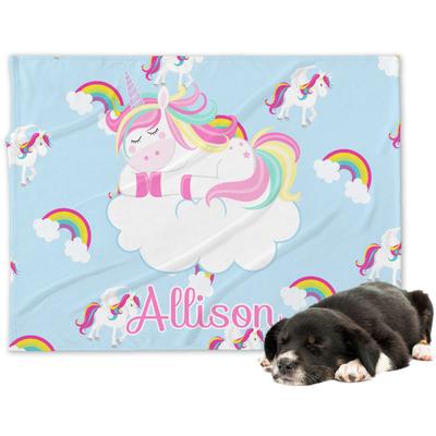 Rainbows and Unicorns Dog Blanket (Personalized)