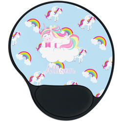 Rainbows and Unicorns Mouse Pad with Wrist Support