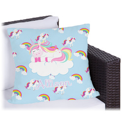 Rainbows and Unicorns Outdoor Pillow (Personalized)
