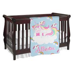 Rainbows and Unicorns Baby Blanket (Personalized)