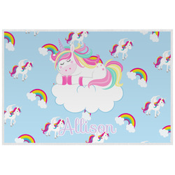 Rainbows and Unicorns Laminated Placemat w/ Name or Text