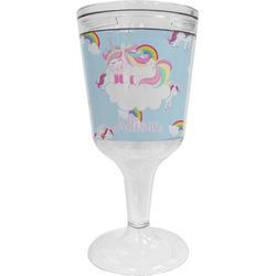 Rainbows and Unicorns Wine Tumbler - 11 oz Plastic (Personalized)