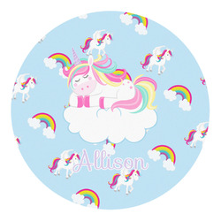 Rainbows and Unicorns Round Decal (Personalized)