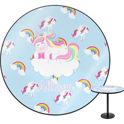 Rainbows and Unicorns Round Table (Personalized)