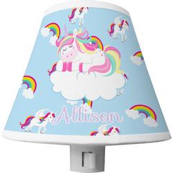 Rainbows and Unicorns Shade Night Light w/ Name or Text