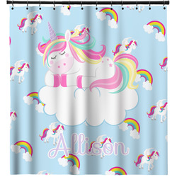 Rainbows and Unicorns Shower Curtain (Personalized)