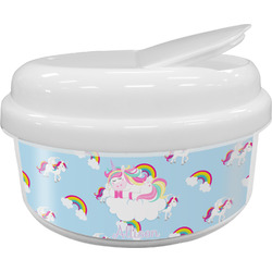 Rainbows and Unicorns Snack Container (Personalized)
