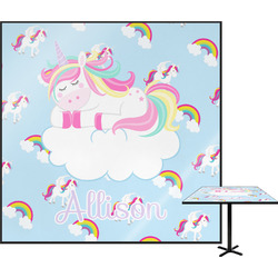 Rainbows and Unicorns Square Table Top (Personalized)