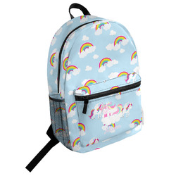 Rainbows and Unicorns Student Backpack (Personalized)