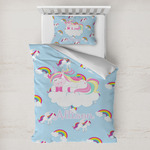 Rainbows and Unicorns Toddler Bedding w/ Name or Text