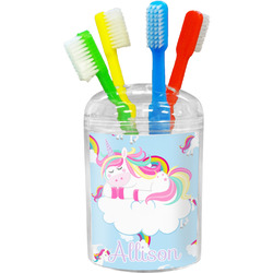 Rainbows and Unicorns Toothbrush Holder (Personalized)