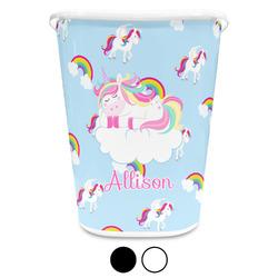 Rainbows and Unicorns Waste Basket (Personalized)