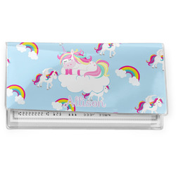 Rainbows and Unicorns Vinyl Checkbook Cover w/ Name or Text