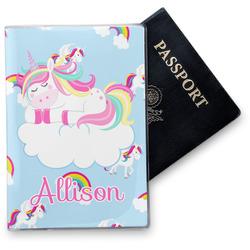 Rainbows and Unicorns Vinyl Passport Holder w/ Name or Text