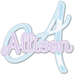 Rainbows and Unicorns Name & Initial Decal - Custom Sized (Personalized)