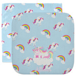Rainbows and Unicorns Facecloth / Wash Cloth (Personalized)