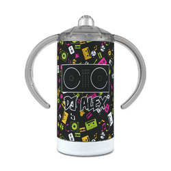 DJ Music Master 12 oz Stainless Steel Sippy Cup (Personalized)