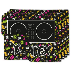 DJ Music Master Linen Placemat w/ Name or Text