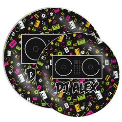 Music DJ Master Melamine Plate (Personalized)