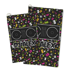 DJ Music Master Microfiber Golf Towel (Personalized)