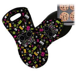 Music DJ Master Neoprene Oven Mitts w/ Name or Text