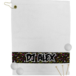 DJ Music Master Golf Bag Towel (Personalized)