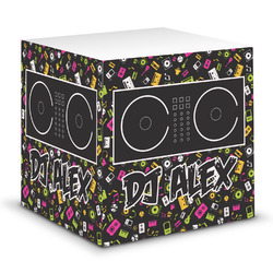 Music DJ Master Sticky Note Cube w/ Name or Text