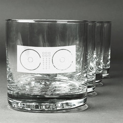 Music DJ Master Whiskey Glasses (Set of 4) (Personalized)