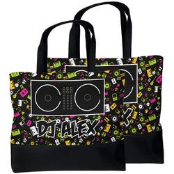Music DJ Master Beach Tote Bag (Personalized)