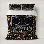 DJ Music Master Duvet Cover (Personalized)