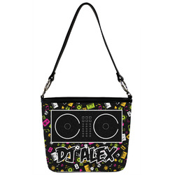 Music DJ Master Bucket Bag w/ Genuine Leather Trim (Personalized)