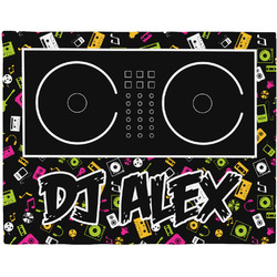Music DJ Master Woven Fabric Placemat - Twill w/ Name or Text