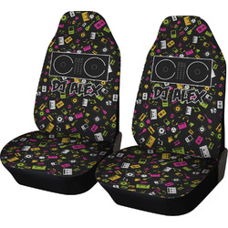 Music DJ Master Car Seat Covers (Set of Two) w/ Name or Text