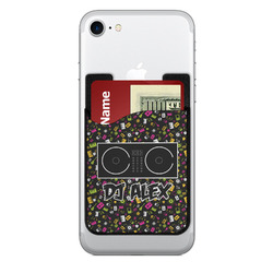 Music DJ Master 2-in-1 Cell Phone Credit Card Holder & Screen Cleaner w/ Name or Text